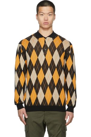 BEAMS PLUS Men Polo Shirts - Knit Argyle Polo