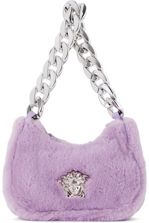 Versace Bags - Kids Faux-Fur Medusa Shoulder Bag