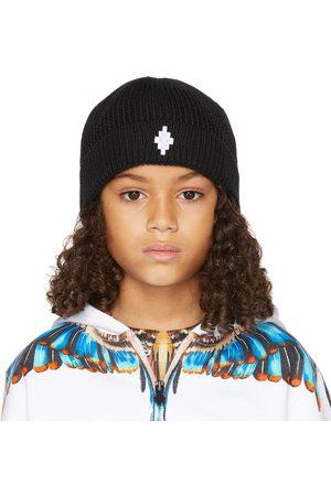 MARCELO BURLON Beanies - Kids Black Cross Beanie