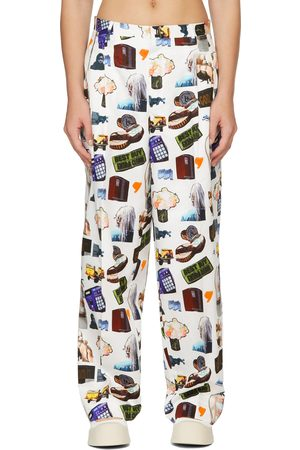 Etudes Women Pants - All Over Print Trousers