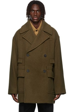 WOOYOUNGMI Men Peacoats - Double-Breasted Peacoat