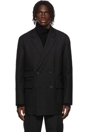 WOOYOUNGMI Men Blazers - Paneled Wool Double Jacket