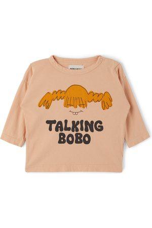 Bobo Choses Long Sleeve - Baby Pink 'Talking Bobo' Long Sleeve T-Shirt