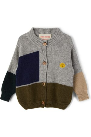 Bobo Choses Sweatshirts - Baby Multicolor Knitted Geometric Sweater