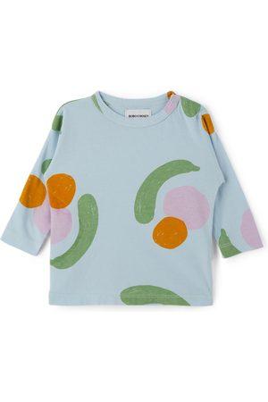 Bobo Choses Long Sleeve - Baby Blue Fruits All Over Long Sleeve T-Shirt