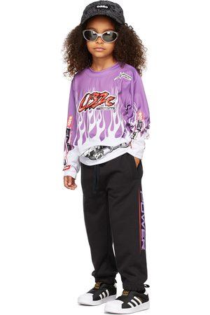 032c Kids Motocross Flames Long Sleeve T-Shirt