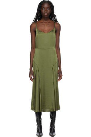 Vince Paneled V-Neck Slip Dress