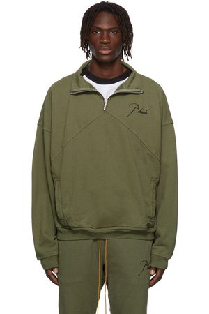 Rhude Embroidered Quarter-Zip Sweater