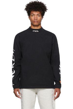 Heron Preston Men Long Sleeve - Mock Neck Brush Long Sleeve T-Shirt