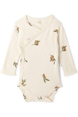 Organic Zoo Baby Off-White Wrapover Bodysuit