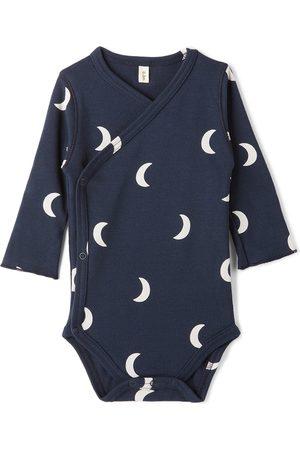 Organic Zoo Baby Navy Wrapover Bodysuit