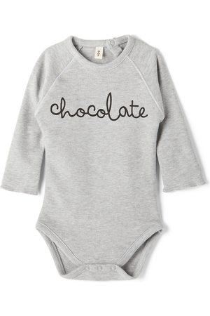 Organic Zoo Rompers - Baby Grey 'Chocolate' Bodysuit