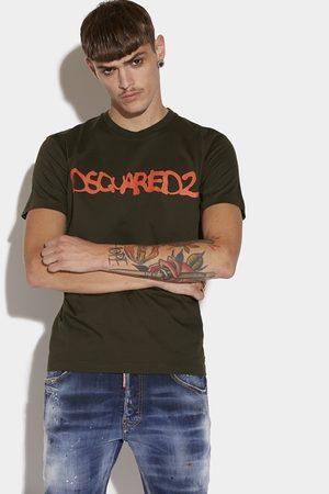 Dsquared2 Men Short sleeve t-shirt Military Dark