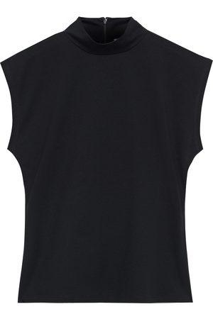 Frame Woman Organic Cotton-jersey Turtleneck Tank Size L