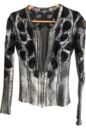 JITROIS Leather short vest