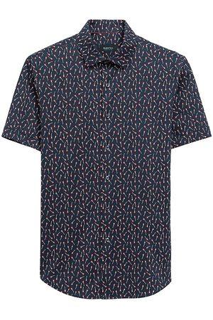 Bugatchi Men Short sleeves - Ooohcotton Tech Guitar-Print Short-Sleeve Shirt
