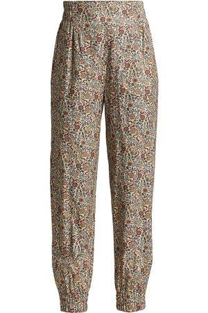 Anna Mason Women Sweatpants - Floral Ankle Crop Joggers