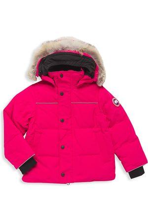 Canada Goose Parkas - Little Kid's Snowy Owl Coyote Fur-Trim Down Parka