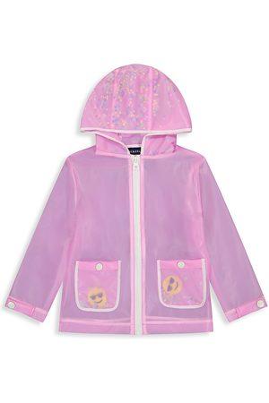 Andy & Evan Little Girl's Translucent Emoji Rain Jacket