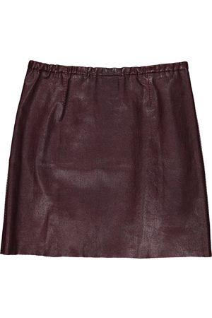 Stouls Leather mini skirt