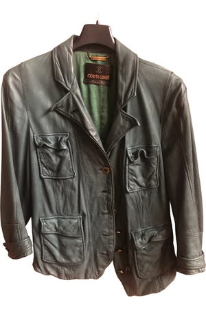 Roberto Cavalli Leather short vest