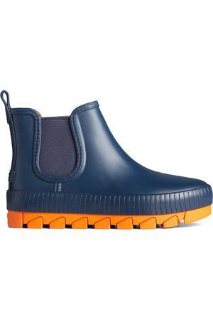 Sperry Top-Sider Women's Sperry Torrent Pop Chelsea Rain Boot Navy/Orage, Size 6.5M