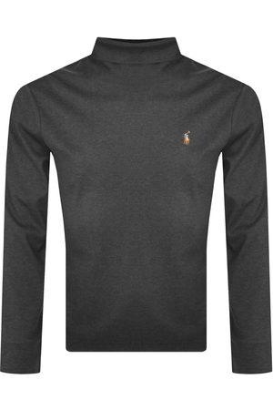 Ralph Lauren Long Sleeved Roll Neck T Shirt Grey