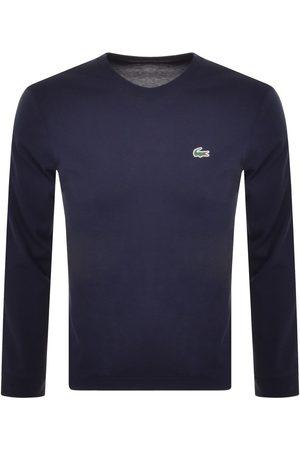 Lacoste Men Long Sleeve - Sport Long Sleeved T Shirt Navy