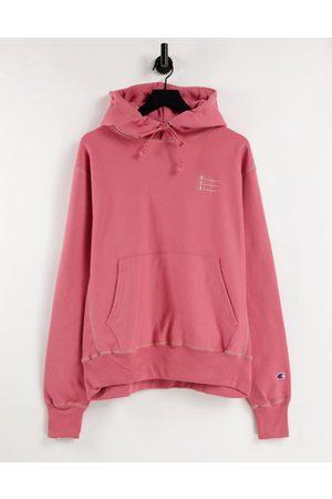 Champion Men Hoodies - Contrast stitch logo hoodie in pale
