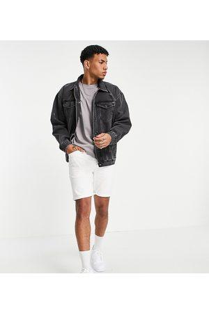 New Look Men Denim Jackets - Oversized denim jacket in mid -Grey