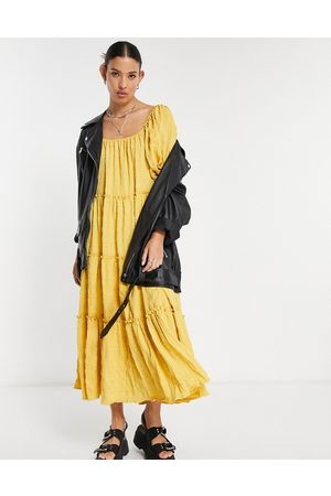 Emory Park Women Maxi Dresses - Maxi smock dress with tiered skirt in texture