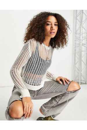 Emory Park Long sleeve open knit top