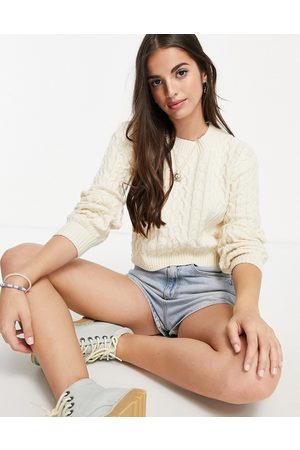 Skylar Rose Cropped cable knit sweater set
