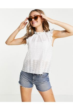 & OTHER STORIES & eyelet frill edge top in