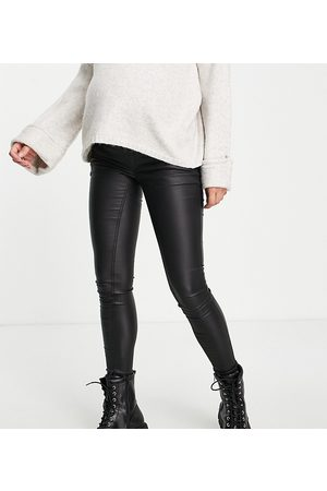 Mama Licious Mamalicious Maternity coated skinny jeans in