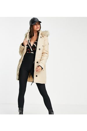 VERO MODA Parka with faux fur lined hood in -Neutral