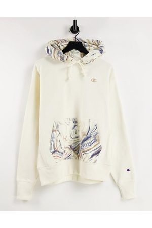 Champion Marble logo hoodie in off