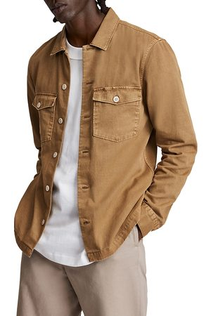 AllSaints Men Shirts - Spotter Cotton Solid Regular Fit Button Down Camp Shirt