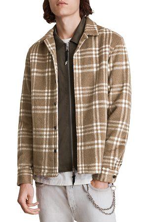 AllSaints Men Long sleeves - Zenith Long Sleeve Plaid Shirt