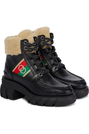 Gucci Women Outdoor Shoes - Romance leather hiking boots