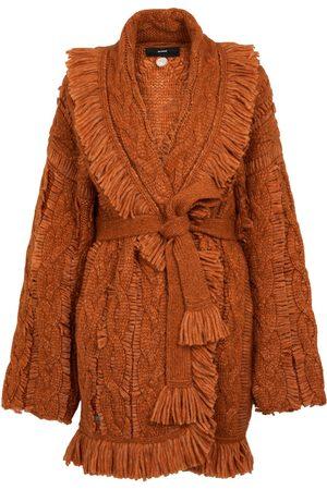 Alanui Belted alpaca-blend cardigan