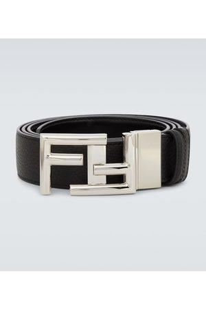 Fendi Men Belts - Leather FF buckle belt