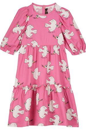 Mini Rodini Dove organic cotton dress