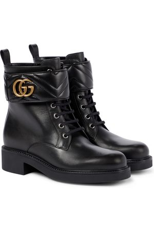 Gucci Women Ankle Boots - GG Marmont leather ankle boots