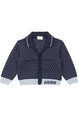 Fendi Baby jacquard cotton-blend cardigan