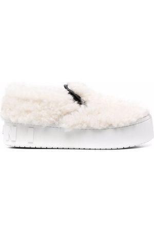 Marni Platform fur sneakers