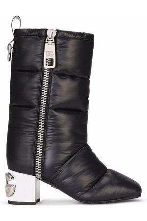 Dolce & Gabbana Women Heeled Boots - DG-heel padded boots