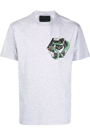 Philipp Plein Short Sleeve - Graphic-print short-sleeved T-shirt - Grey