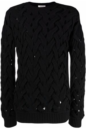 VALENTINO Men Sweatshirts - Woven knitted crew-neck jumper