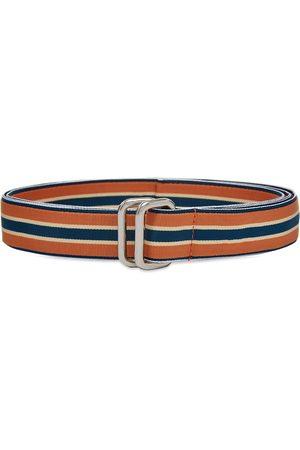 Beams Men Belts - Grosgrain Tape Double Ring Belt